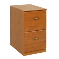 Pine 2 Drawer Filing Cabinet